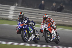 Jorge Lorenzo, Yamaha Factory Racing and Andrea Dovizioso, Ducati Team