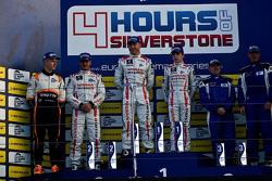 Podium: second place Michael Simpson, Gaëtan Paletou, winners Chris Hoy, Charles Robertson, third place Rob Garofall, Jens Petersen