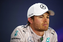 Nico Rosberg Mercedes AMG F1 in the FIA Press Conference