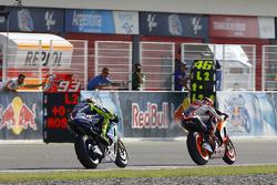 Marc Marquez, Repsol Honda Team and Valentino Rossi, Yamaha Factory Racing