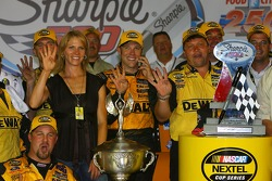 Victory lane: race winner Matt Kenseth