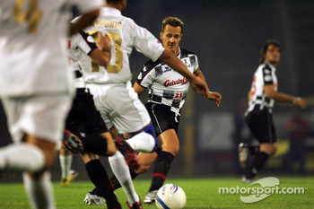 National drivers charity football match at Stadio Brianteo Stadio Brianteo: Michael Schumacher