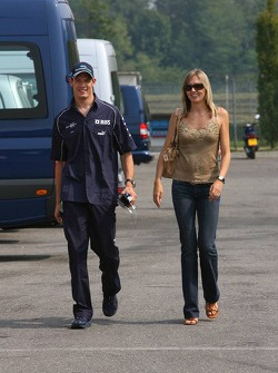 Alexander Wurz with his wife