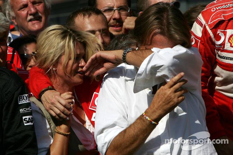 Emotional moments for Corina Schumacher, Jean Todt and Luca di Montezemolo
