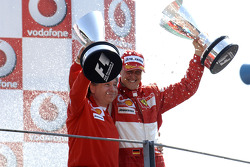 Podium: race winner Michael Schumacher and Jean Todt