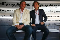 Spyker MF1 Racing press conference: Victor R. Muller, Chief Executive Officer of Spyker Cars N.V. and Spyker MF1 Racing and Michiel Mol, future Director of Formula One Racing of Spyker and Spyker MF1 Racing