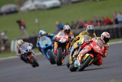 Marco Melandri leads Colin Edwards