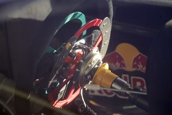Steering wheel of the Red Bull Skoda