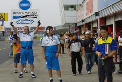 Konica Minolta Honda pit area