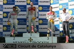 Podium: race winner Martin Tomczyk with Bernd Schneider and Heinz-Harald Frentzen