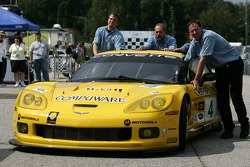 #4 Corvette Racing Corvette C6-R pushed in the paddock