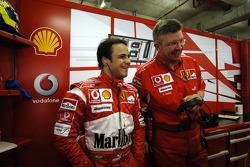 Felipe Massa and Ross Brawn
