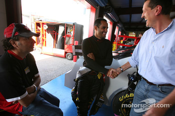 Juan Pablo Montoya and Red Bull VP of competition Gunther Steiner
