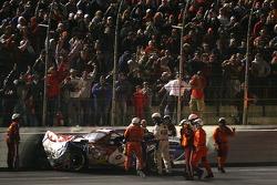 Mark Martin after his crash