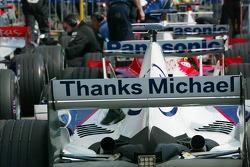 BMW Sauber F1 Team F1.06, rear wing