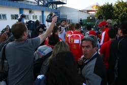 Michael Schumacher leaves the circuit