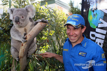 Chris Atkinson with a koala