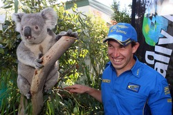Chris Atkinson with a koala