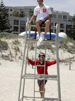 Daniel Sordo and Marc Marti at the beach