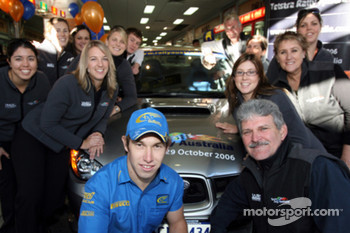 Chris Atkinson with the Telstra Rally Australia team