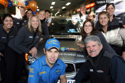 Chris Atkinson with the Telstra Rally Australia team