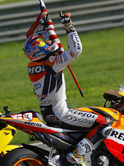 2006 MotoGP World Champion Nicky Hayden celebrates