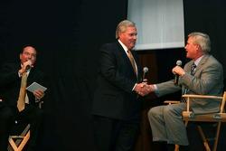 Rick Hendrick congratulates Terry Labonte