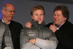 Dr. Dieter Zetsche, Kimi Raikkonen and Norbert Haug