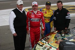 Rick Hendrick, Terry, Bobby and Justin Labonte