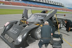 Riley Motorsports crew members at work