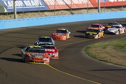 Kevin Harvick leads Carl Edwards