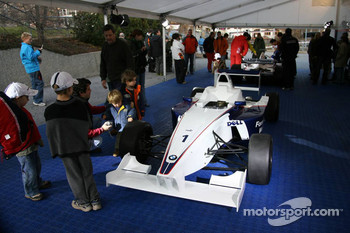 Formula BMW car on display