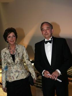 John Howett, President Toyota Motorsport and wife