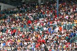 Full grandstand