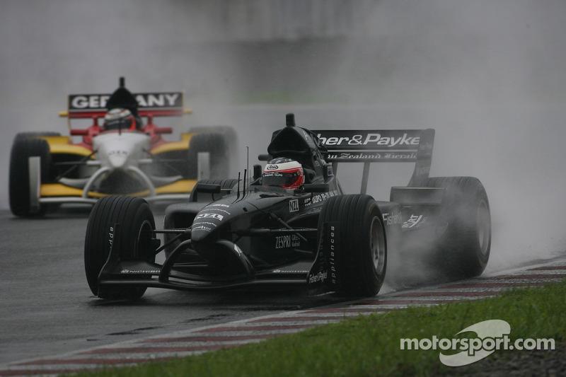 Jonny Reid leads Nico Hulkenberg