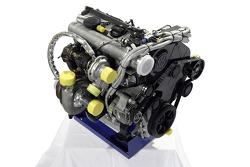 Volkswagen Motorsport presentation in Dubai: engine of the Volkswagen Race Touareg 2