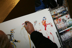 Drawing artist at work