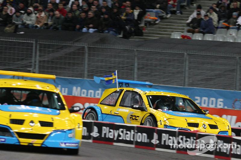 Semi final: Heikki Kovalainen and Mattias Ekström