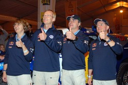Ari Vatanen, Fabrizia Pons, Carlos Sainz and Michel Périn