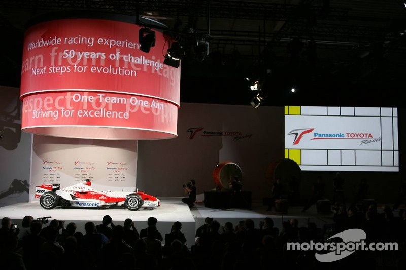 The Toyota TF107 is presented