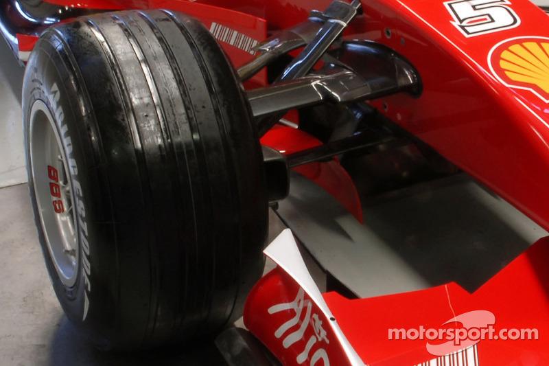 Detail of the new Ferrari F2007