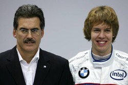Dr. Mario Theissen, BMW Motorsport Director, and Sebastian Vettel