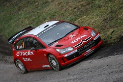 Sébastien Loeb and Daniel Elena test the Citroën C4 WRC