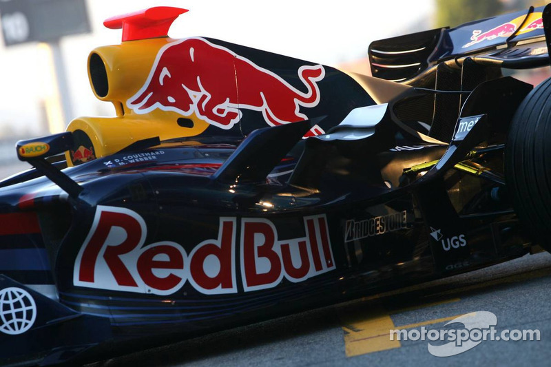 Detail of the Red Bull Racing RB3