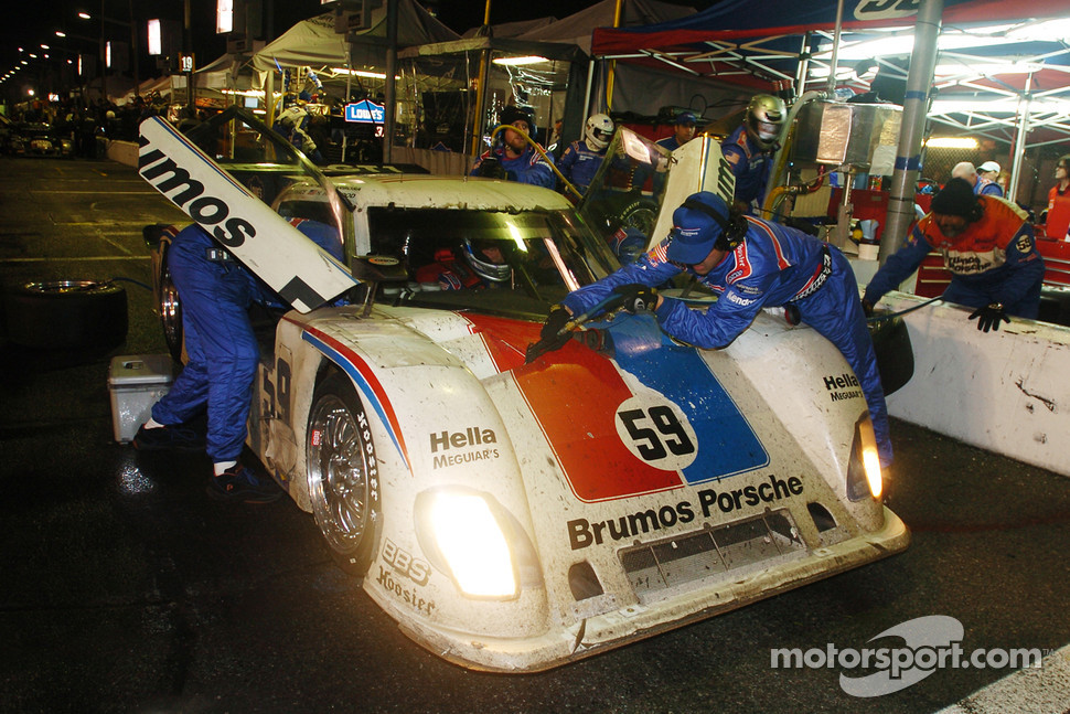 #59 Brumos Porsche/ Kendall Porsche Riley: Hurley Haywood, JC France, Joao Barbosa, Roberto Moreno and #08 Goldin Brothers Racing Mazda RX-8: Steve Goldin, Keith Goldin, John Finger, Ron Zitza