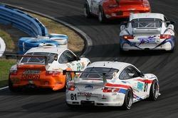 #22 Alegra Motorsports/ Fiorano Racing Porsche GT3 Cup: Carlos de Quesada, Jean-François Dumoulin, Scooter Gabel, Marc Basseng, #81 Synergy Racing Porsche GT3 Cup: Steve Johnson, Patrick Huisman, Richard Westbrook, Richard Lietz
