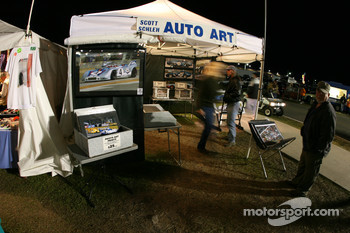 Vendor area at Daytona
