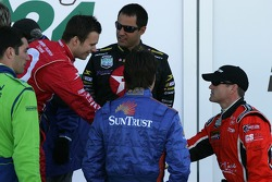 Dan Wheldon, Juan Pablo Montoya, Jeff Gordon and Bobby Labonte