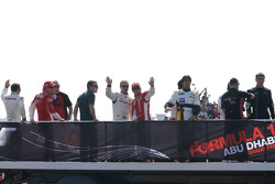Kimi Raikkonen, Felipe Massa, Rubens Barrichello and Fernando Alonso