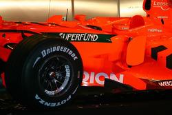 Detail of the 2007 Spyker-Ferrari F8-VII